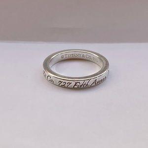 Tiffany & Co Silver Notes Narrow New York Ring
